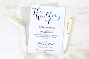 Foiled Wedding Invitation Personalised from the 'Love Letters' Collection by Confetti Sweethearts