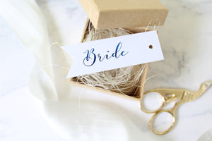 Foiled Name Place/Favour Tags from the' Love Letters' Collection by confetti sweethearts