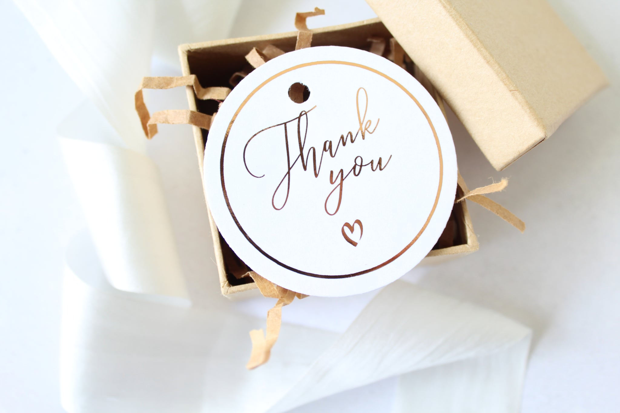 Foiled Wedding Thank you Favour Tags from the Romance Collection by Confetti Sweethearts