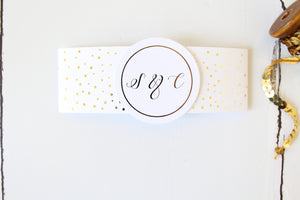 Foiled Wedding Belly Band for the Confetti Design  by Confetti Sweethearts