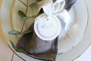Personalised Place Setting/Favour Tags- Wreath Collection