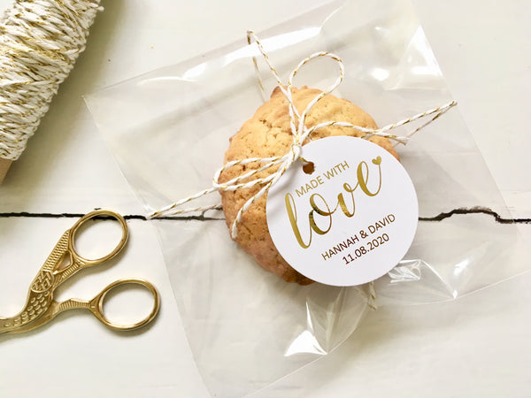 Personalised 'Made with Love' Favour Tags