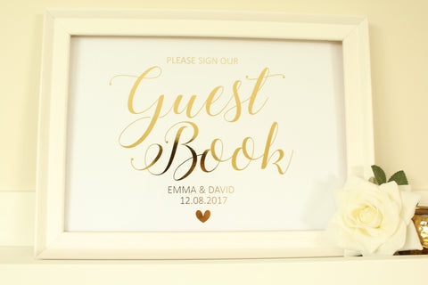 Personalised Guest Book Sign