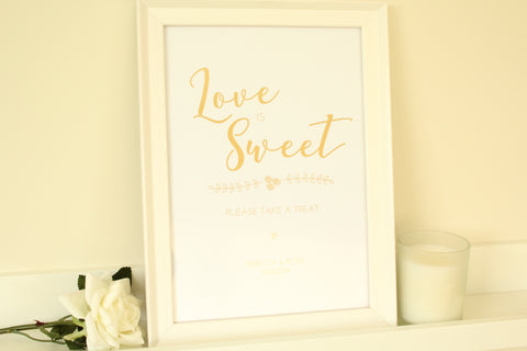 Personalised Love is Sweet Sign