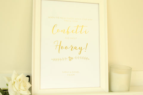 Personalised Confetti Sign