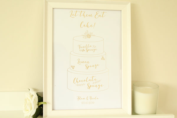 Personalised 'Let them Eat Cake' Sign