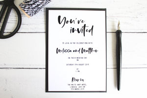 Foiled Wedding Invitation 'You're Invited' 'Modern Day Collection' by Confetti Sweethearts
