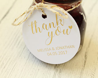 Personalised 'Thank you' Favour Tags