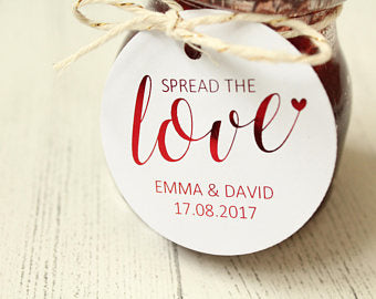 Personalised 'Spread the Love' Favour Tags