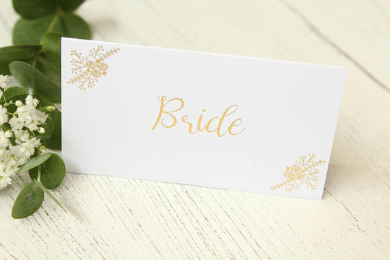 Floral Design Place Cards