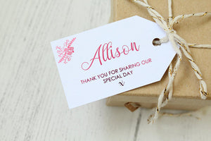 Floral Design Place Luggage Tags 'Thank you for sharing our special day'