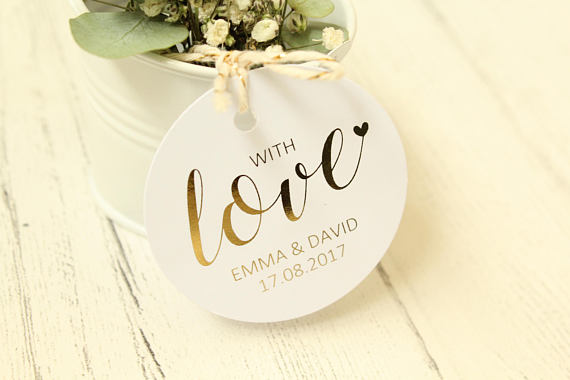 Personalised 'With Love' Favour Tags