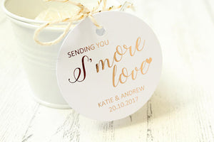 Personalised 'Sending you S'more Love' Favour Tags