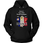 Soccer'Two-Time World Champion - France (English Edition) Unisex Hoodie