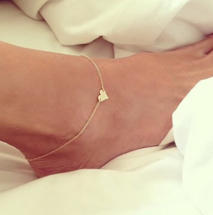 Anklet with Heart Charm