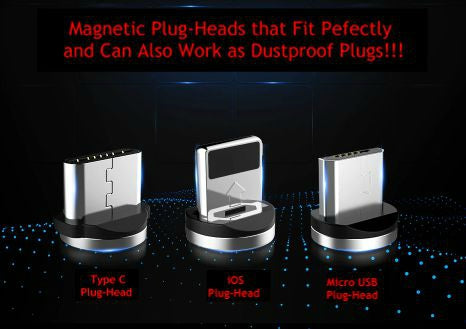 FLOVEME Magnetic 2A-Lightning-Speed Charger with LED Light