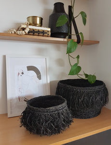 Black Fringe Baskets