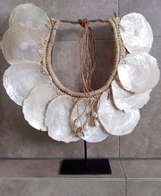 Oyster Shell Neckpiece with Stand