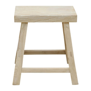 Rectangle Elm Stool