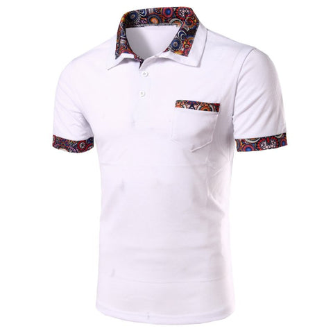 Flower Polo Shirt For Men
