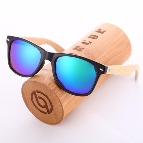 Wood Frame Summer Sunglasses