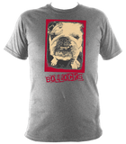 sports grey unisex t-shirt with bulldog bollocks print