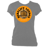sports grey women's fitted tee with derelict london logo