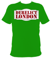 irish green unisex t-shirt with Derelict London logo