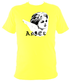 yellow unisex t-shirt with punk angel print