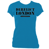 sapphire women's fitted t-shirt with Derelict London logo
