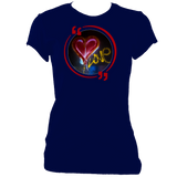 Marine woman's fitted t-shirt with graffiti love heart motif