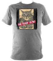sports grey unisex t-shirt with slogan you talkin' to me?