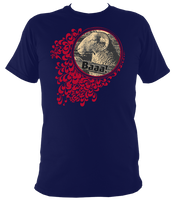 navy unisex t-shirt with quirky sheep print