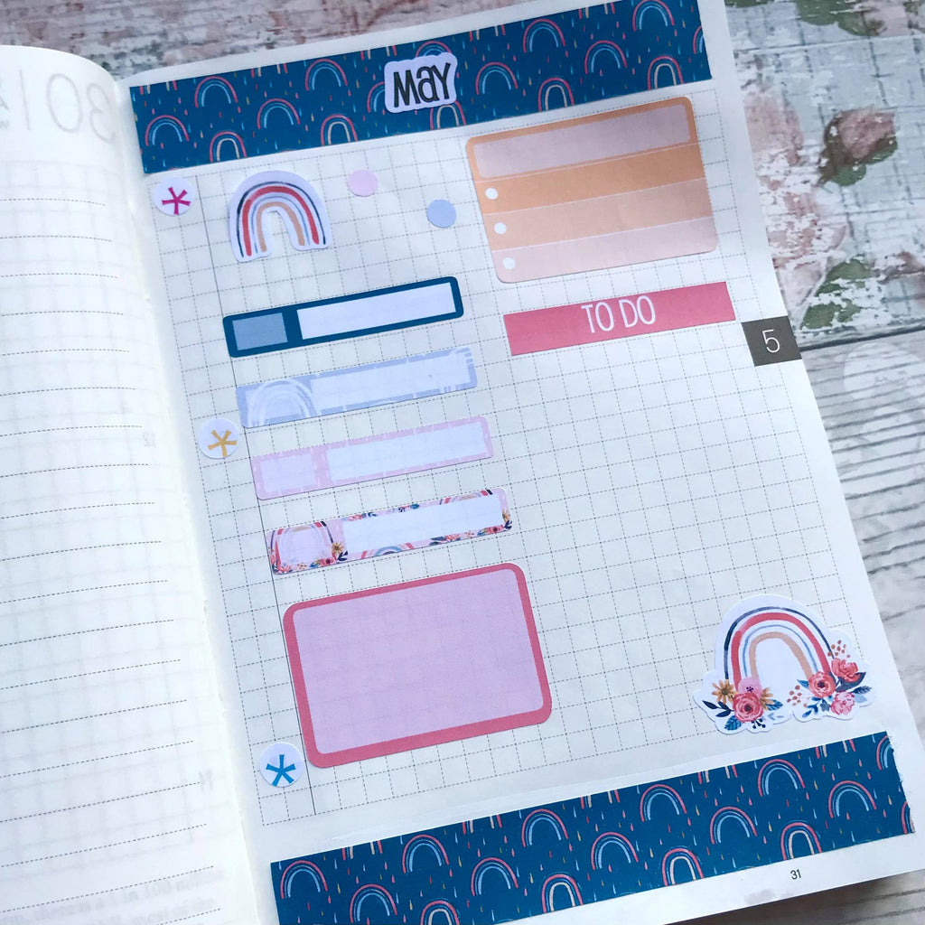 A6 Hobonichi daily pages with EBDUK Stickers