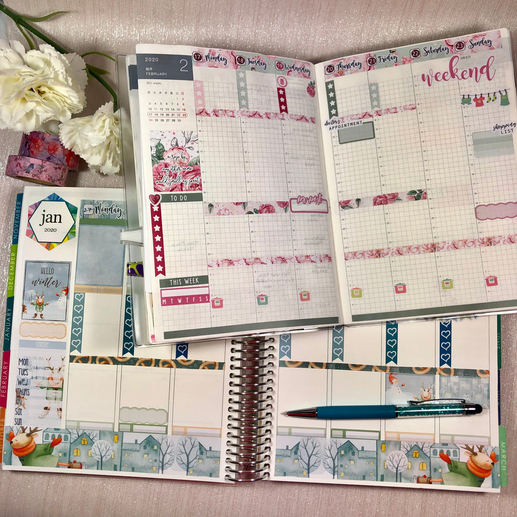 Washi sheets used in and Erin Condren planner