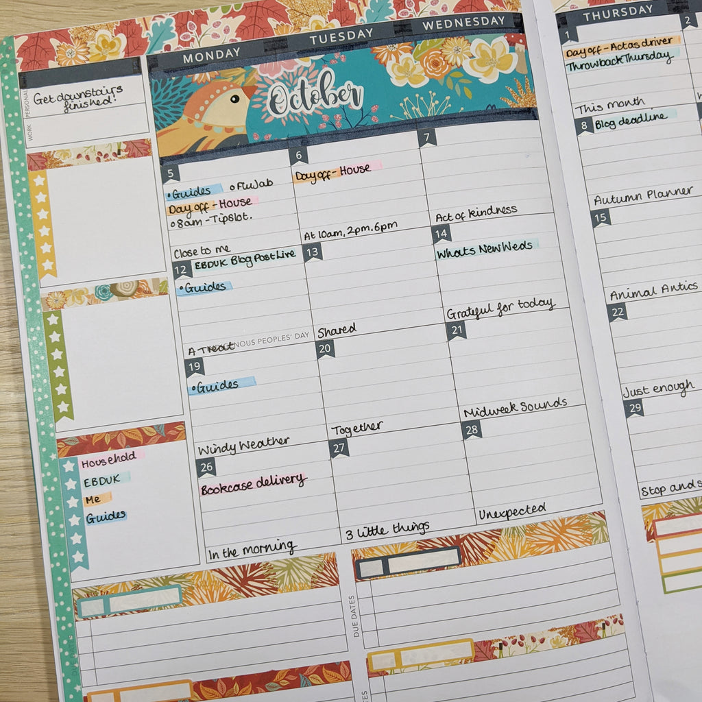 Amplify planner monthly with EBDUK stickers