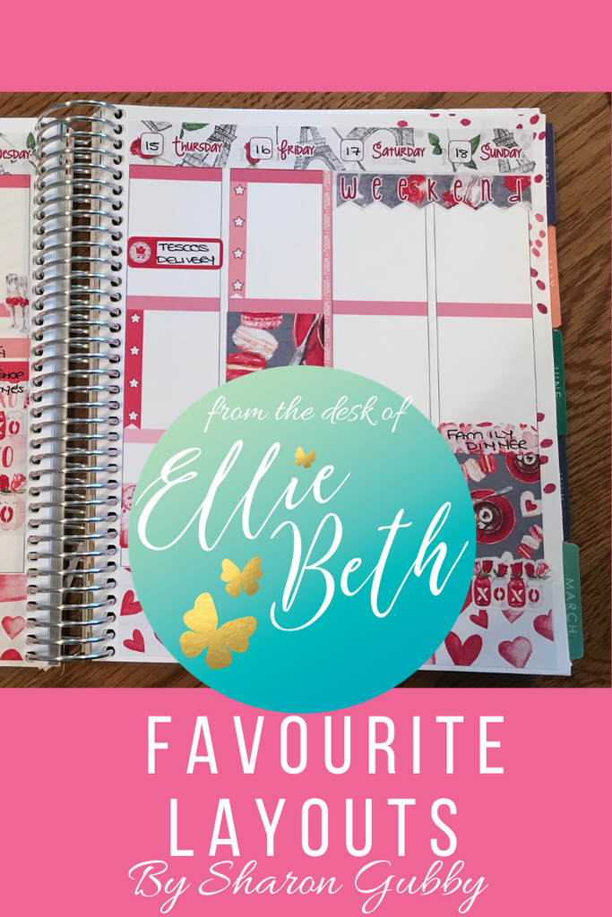 Favourite layouts with EBDUK stickers