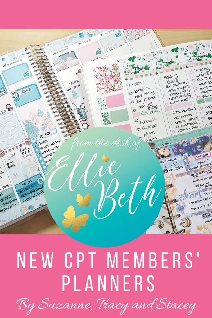 New members's planners with EBDUK stickers