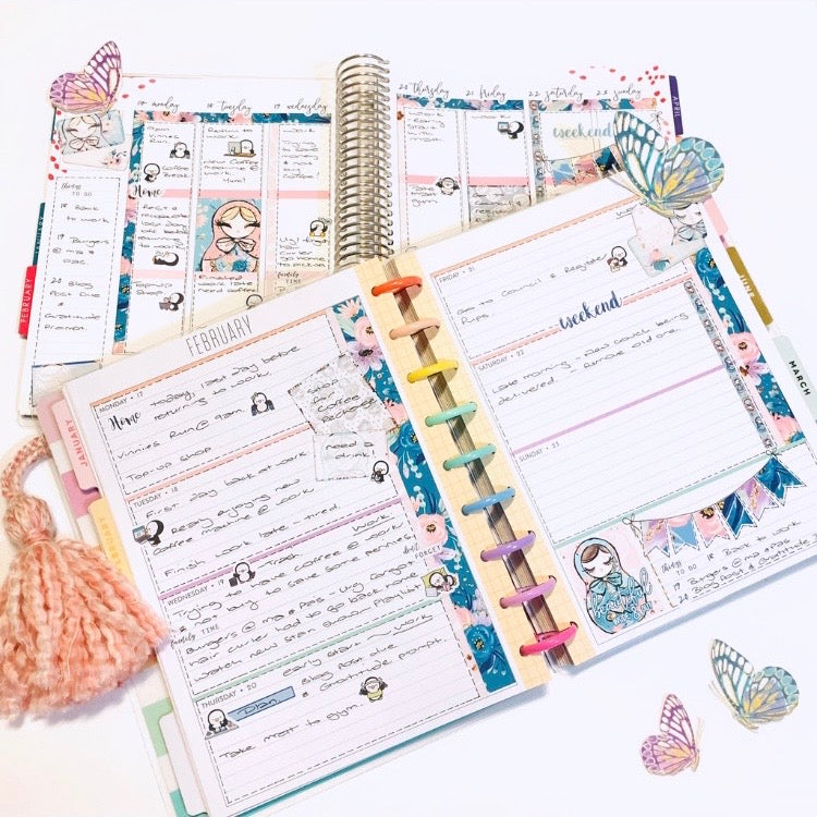 Penguin Joe in Erin Condren and Happy Planner