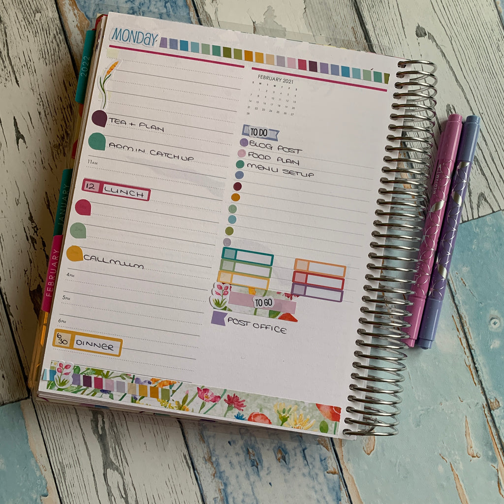 Erin Condren Daily Duo with EBDUK stickers