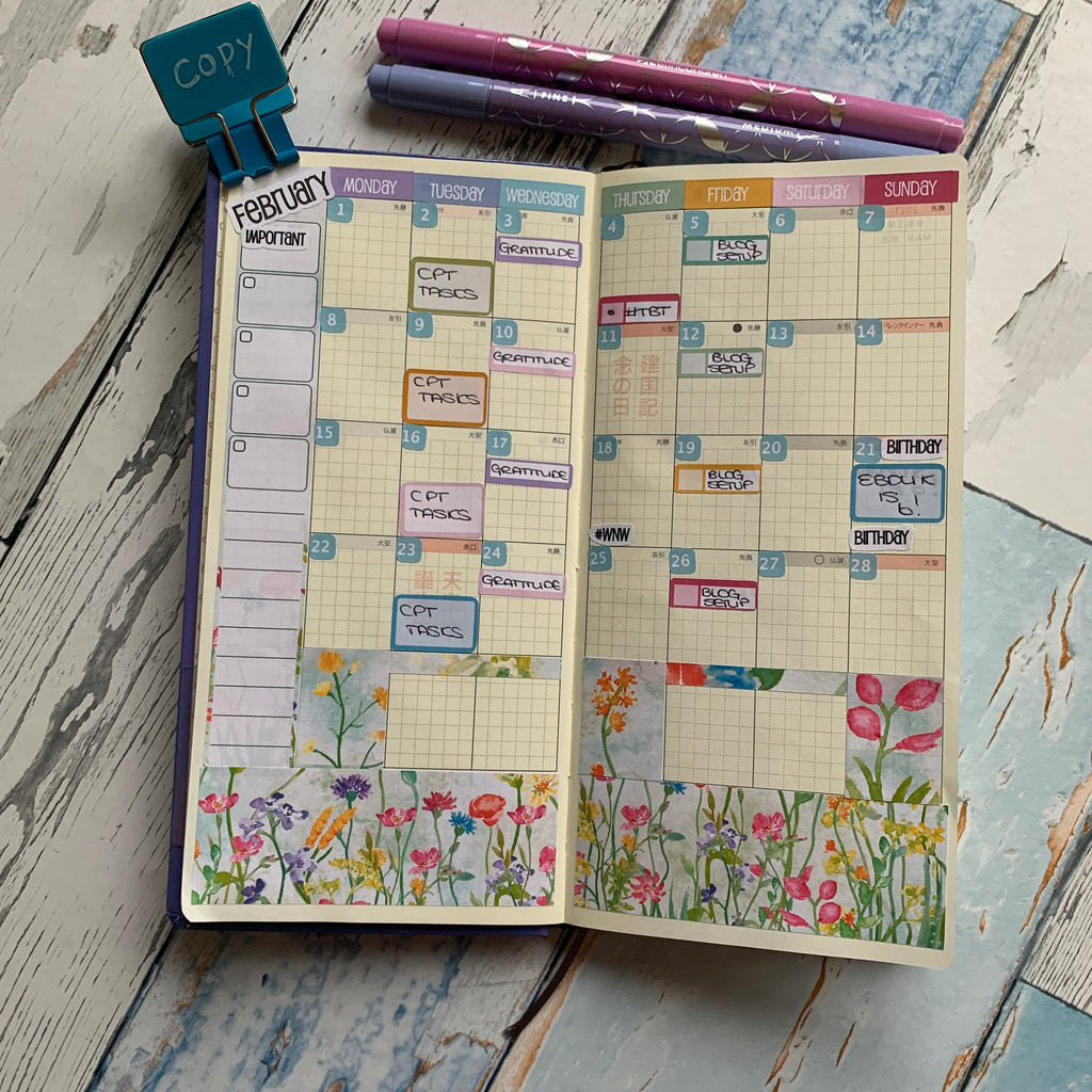 Hobonichi Monthly calendar with EBDUK stickers