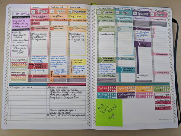 passion planner rainbow stickers