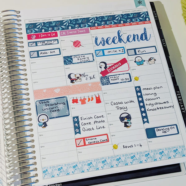 Erin Condren Hourly layout setup