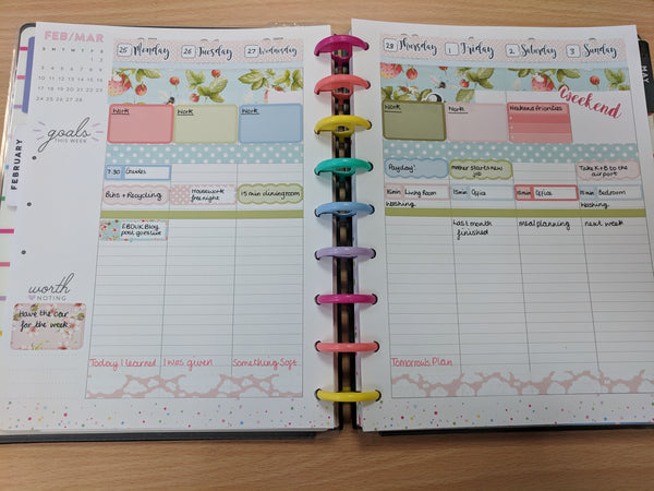 Happy Planner setup