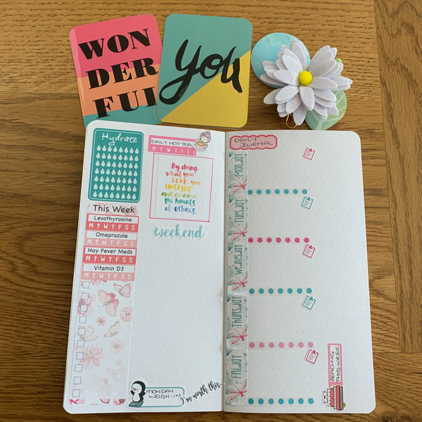 Self care planner inserts