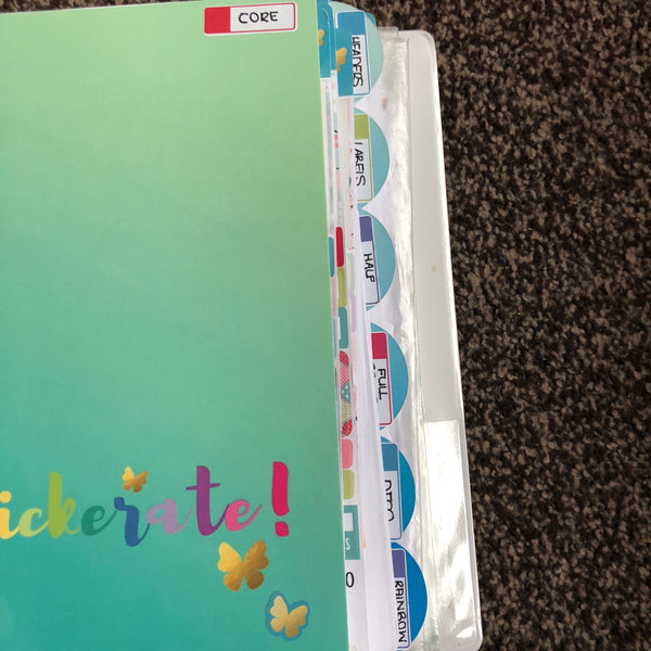 Stickerate Binder tabbed dividers