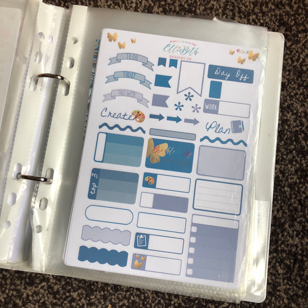 Stickerate Binder rainbow page