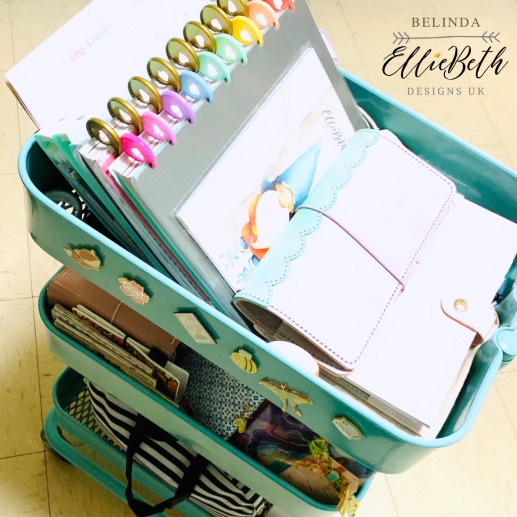 EllieBeth Sticker storage and Belinda's planner cart