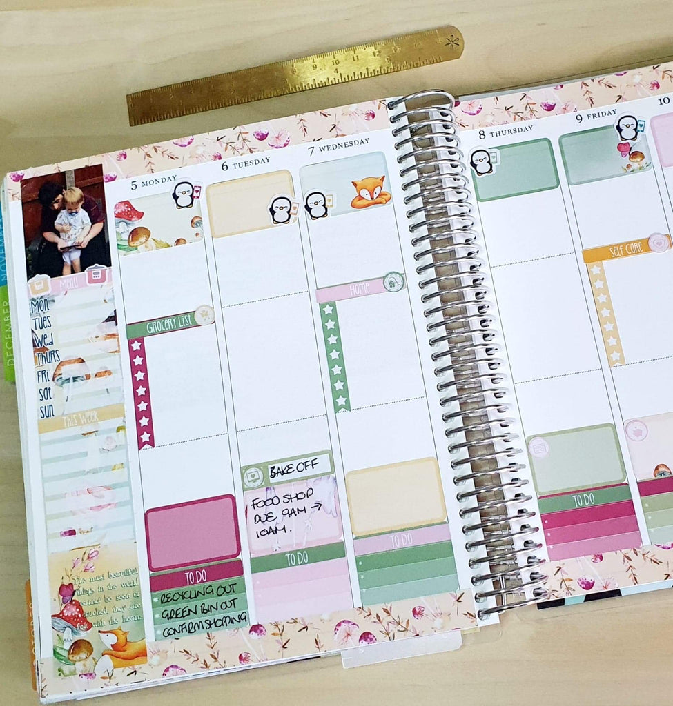 Memory layout with EBDUK stickers
