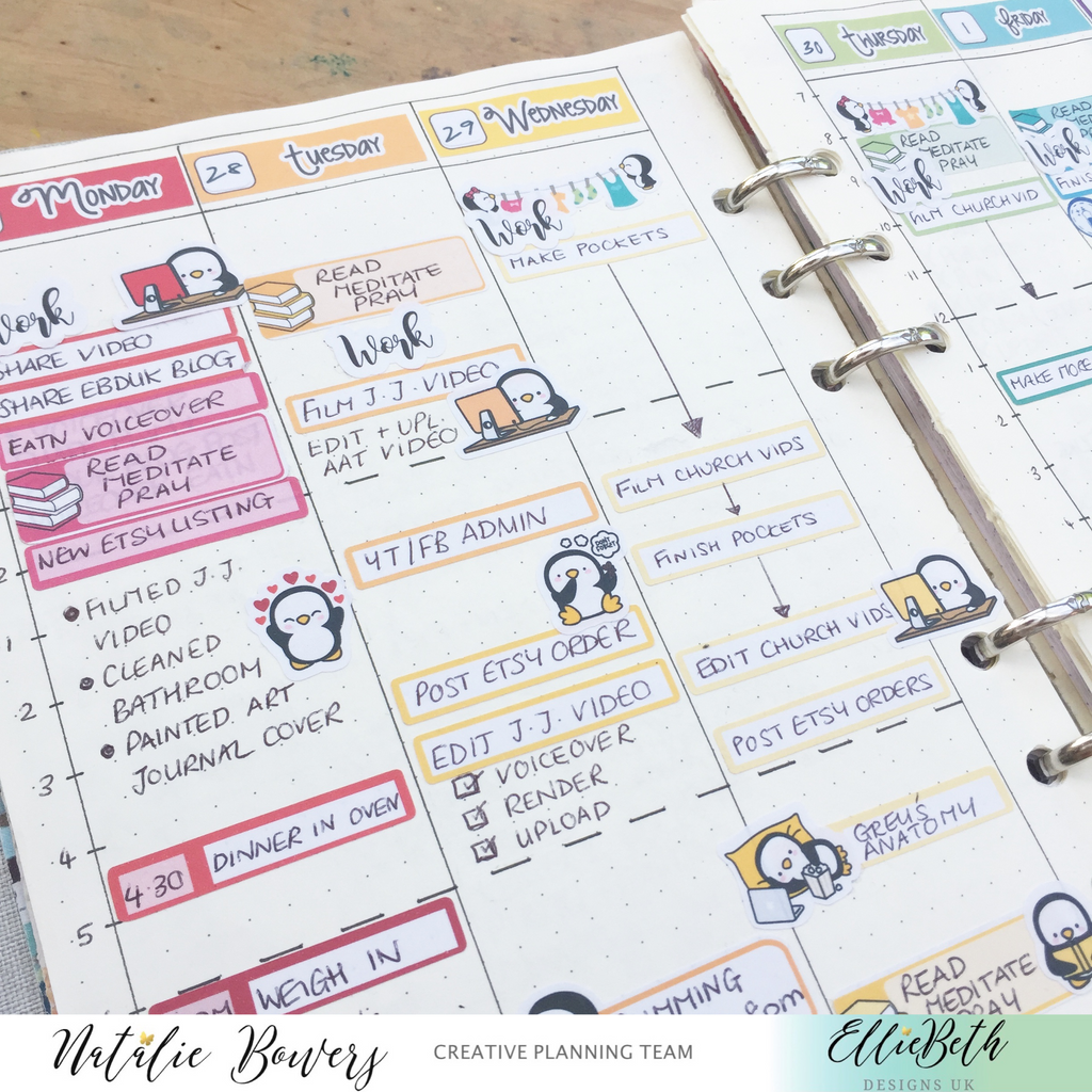 Monthly layout with EBDUK stickers